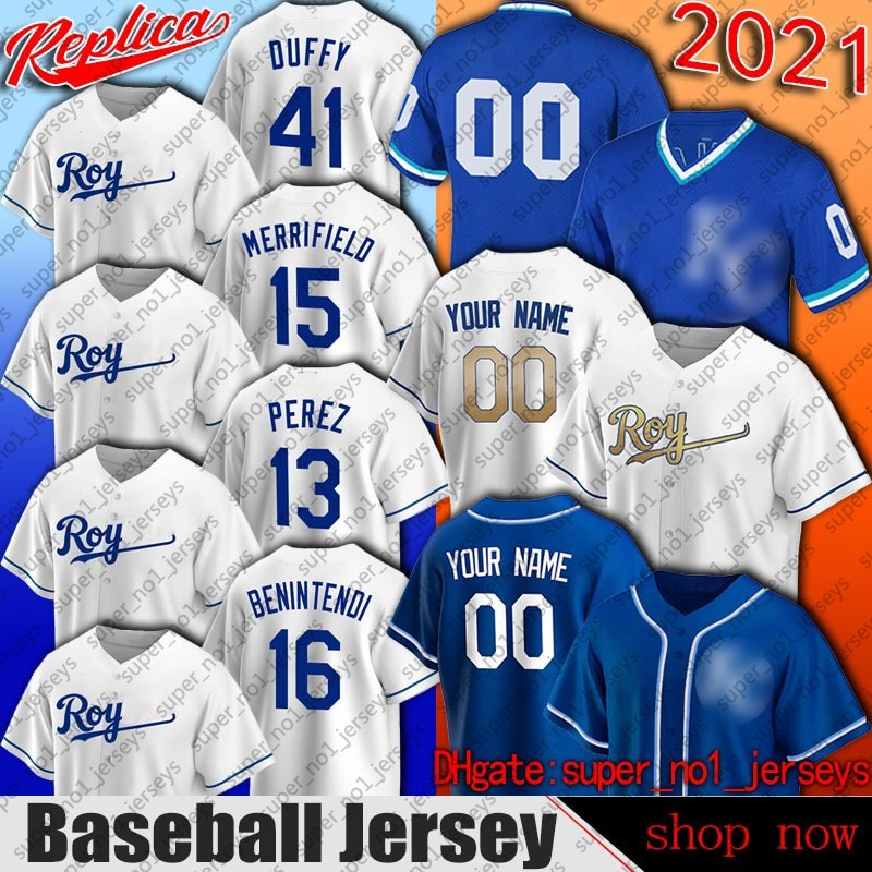 Kansas City 16 Andrew Benintendi Jersey Baseball Whit Merrifield Jerseys Salvador Perez Danny Duffy Jersey Carlos Santana Keller Nicky Lopez