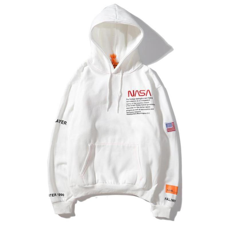 European And American Fashion Brand Heron Co-branded Sweater Preston Multicolor Loose Mens And Womens Hoodies Nasa Left And Right Pockets