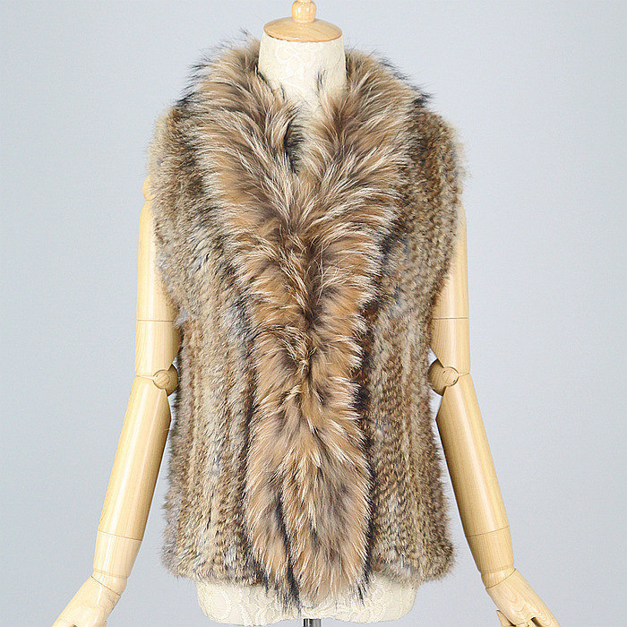 free shipping new styal women rabbit fur vest with...
