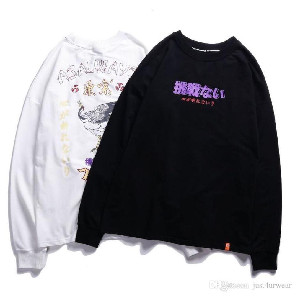Mens Print Sweatshirts Fashion Hip Hop Loose Long Sleeve Tee Seasons Street Hot Sell Male Clothing