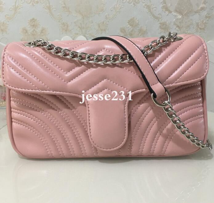 High Quality Fashion women Shoulder bag Pu leather gold silver and sliver chain bag Crossbody Messenger bag Female handbag wallet