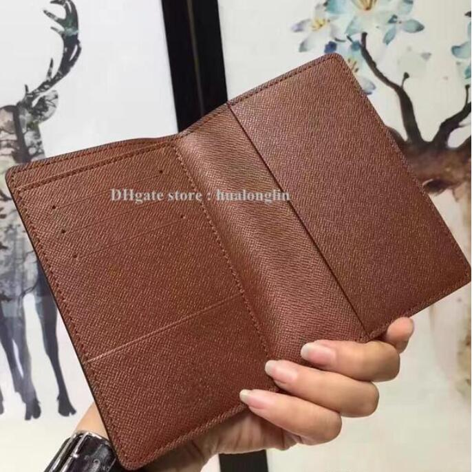 Women and men Passport Holders Cards Bag original box high quality fashion wholesale resell discount