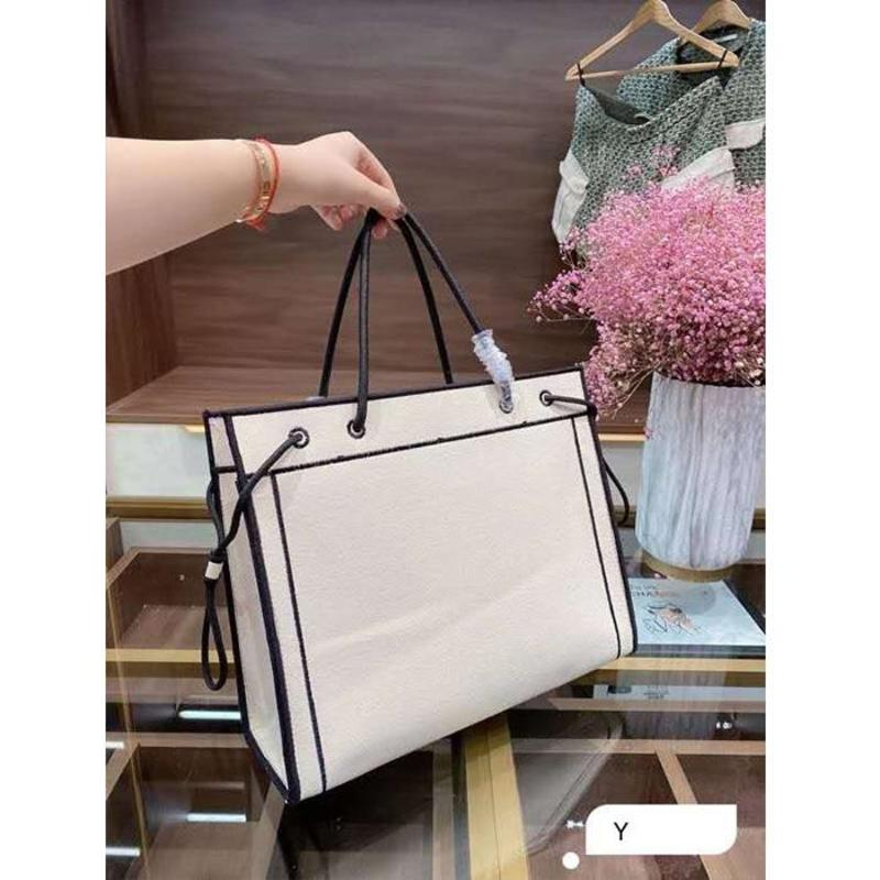Fashion Women Handbags Classic Coated Canvas Shopping Bag Lady Large Capacity Totes Woman Beach Bags Purses With Strong Handle
