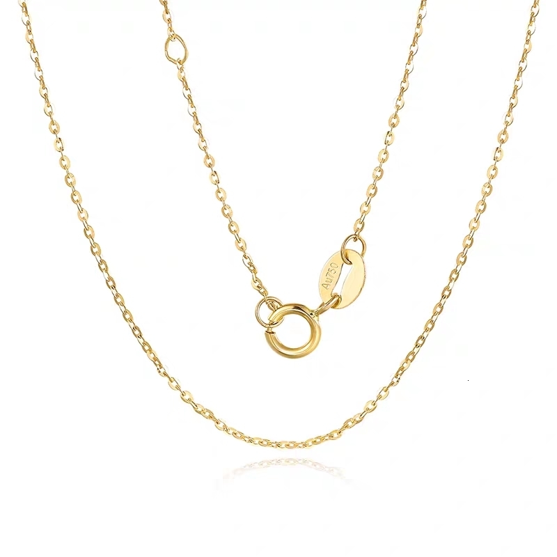 VOJEFEN-AU750-Jewelry-Real-Gold-Necklace-18k-Real-Gold-Necklace-For-Women-And-Men-18-K