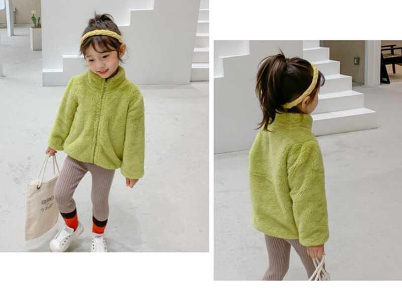 COOTELILI Fashion Fur Velvet Girls Boys Jacket Baby Girls Coat Fleece Warm Kids Jacket Snowsuit Baby Girl Hooded Outerwear (5)