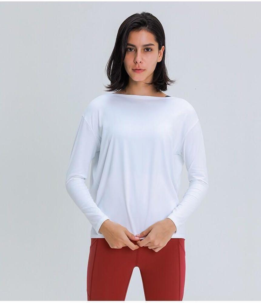 L010 Long Sleeve Yoga Shirts Sport Top Fitness Yoga Top Gym Top Sports Wear for Women Gym Femme Jersey Mujer Running T Shirt