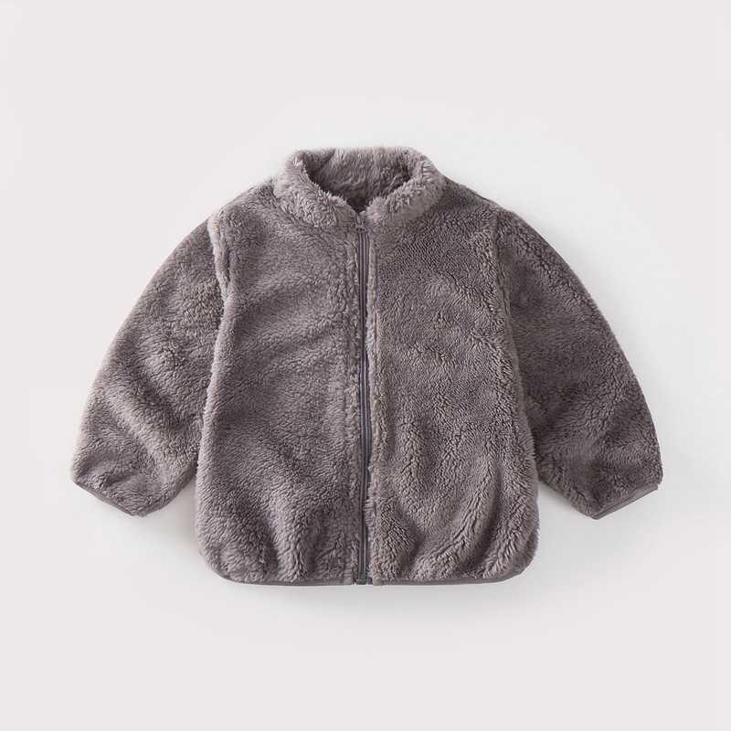 COOTELILI Fashion Fur Velvet Girls Boys Jacket Baby Girls Coat Fleece Warm Kids Jacket Snowsuit Baby Girl Hooded Outerwear (19)