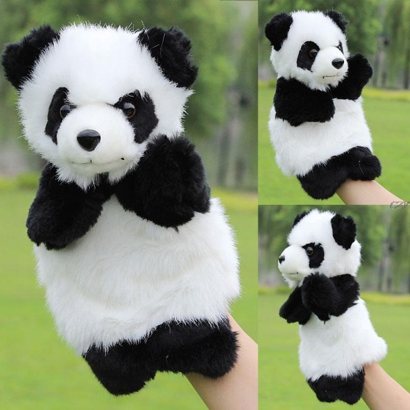 Panda Hand Puppet Baby Kids Plush Doll Educational Toys Preschool Kindergarten