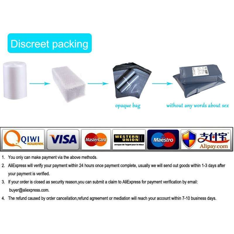 Discreet packing and payment