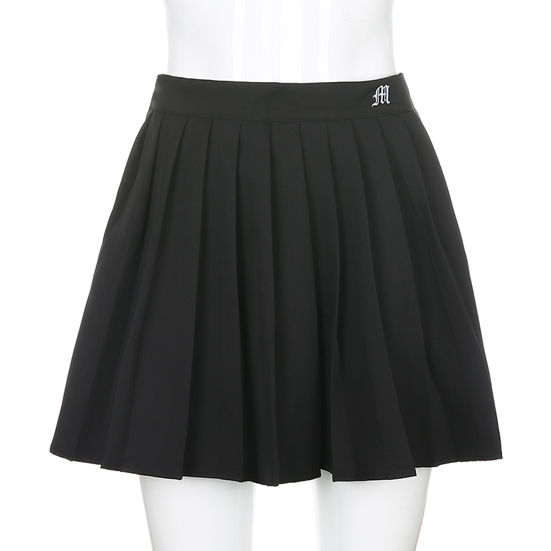 Black Embroidery Skirt (3)