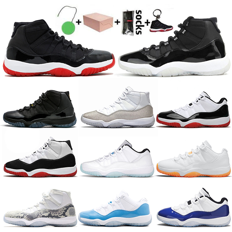 With Box 2021 Low Legend Blue 11s JUMPMAN 11 Basketball Shoes Citrus Women Mens Trainers High White Bred 25th Anniversary Concord Georgetown Off Sneakers