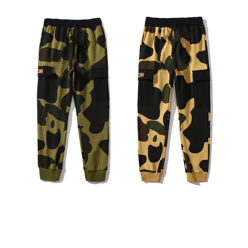 20ss Mens Pants High Street Pants for WoMen Sport Pants Reflective Sweatpants Casual Mens Hip Hop Camo Streetwear Camo high-quality With Box