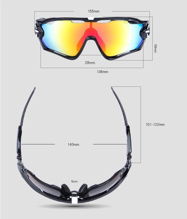 Polarized Sports Glasses Bike Sunglasses for Men Women Youth Cycling Running Driving Fishing Golf Baseball Military Motorcycle Fishing