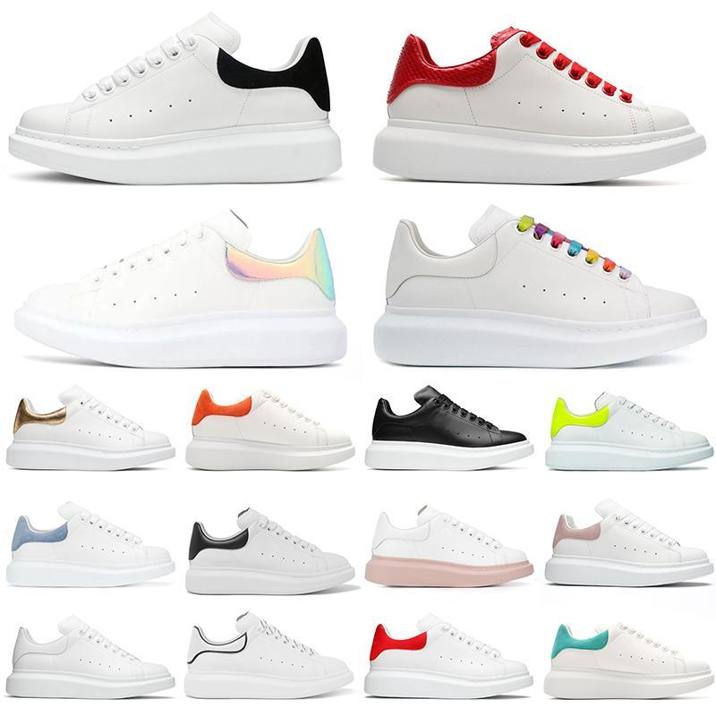 MCQUEENS ALEXANDER 2021 Top Fashion Triple Black White Off Mens Womens Running Shoes Oversized Alexander Espadrille Off Pink Beige Trai jvC
