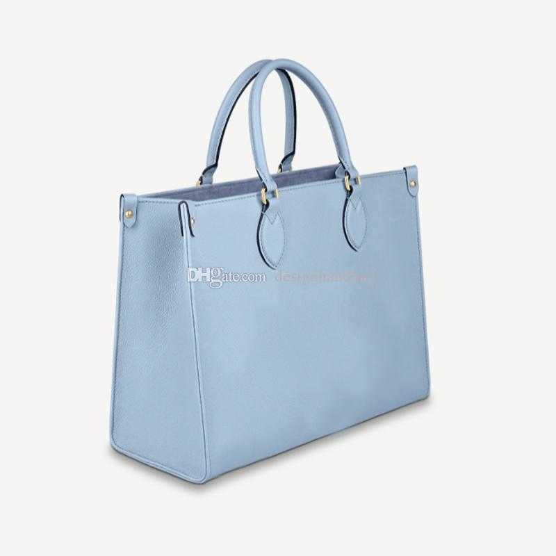 M45718 Onthego Handbags Gradient Color Flower Leather Totes Fashion woman Large Capacity shopping Bag Women Luxurys Designers Bags M45717
