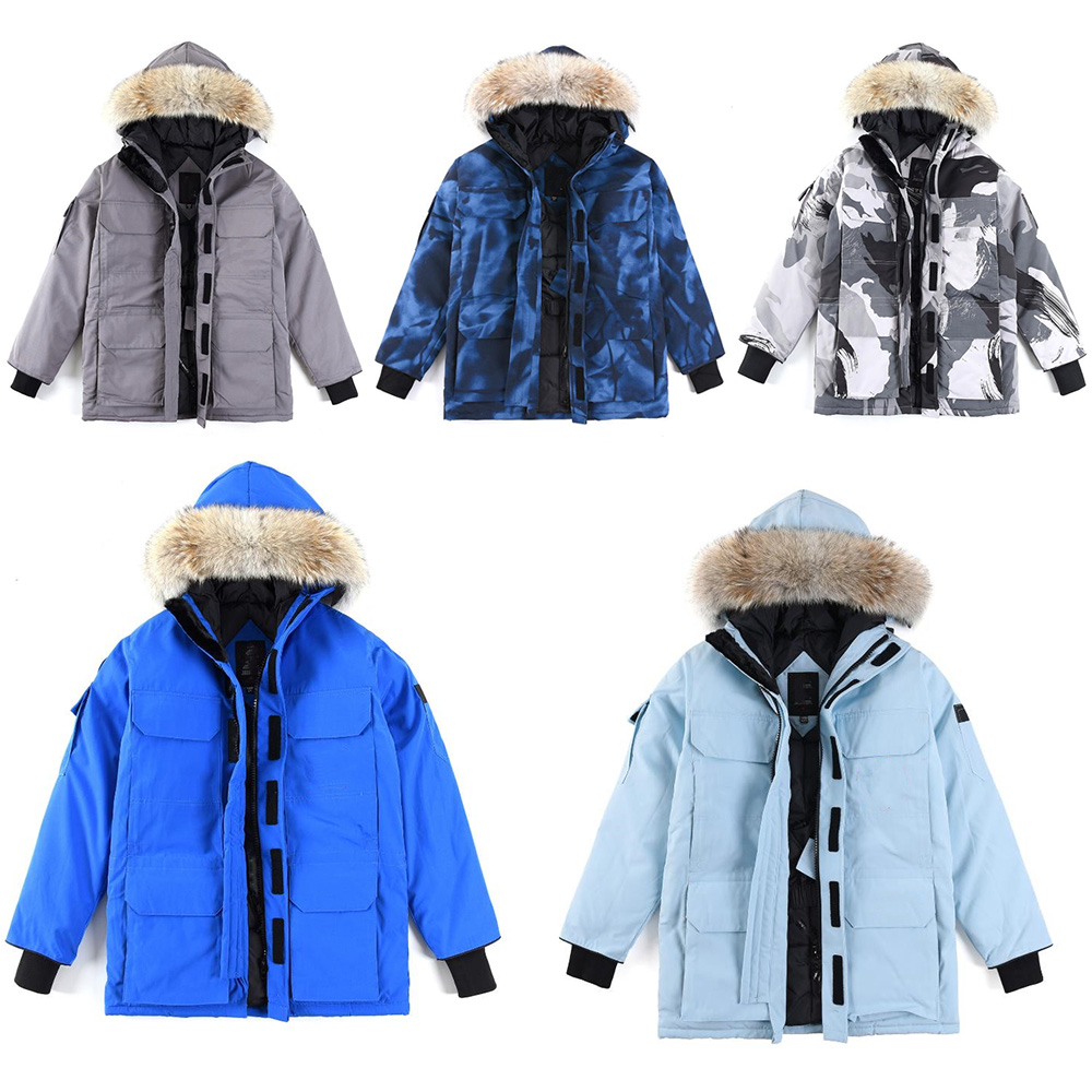 Designer canada winter Expedition down hooded warm Coats women downs men parka Lover Parkas Mens Outerwear Europe and America Fashion Embroidered Thicken