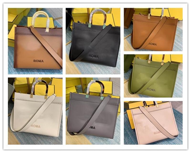 designer Luxury Totes sunshine shopper bag brown women roma handbag Best Quality medium calf leather Razor Brown WomenS Seconhand