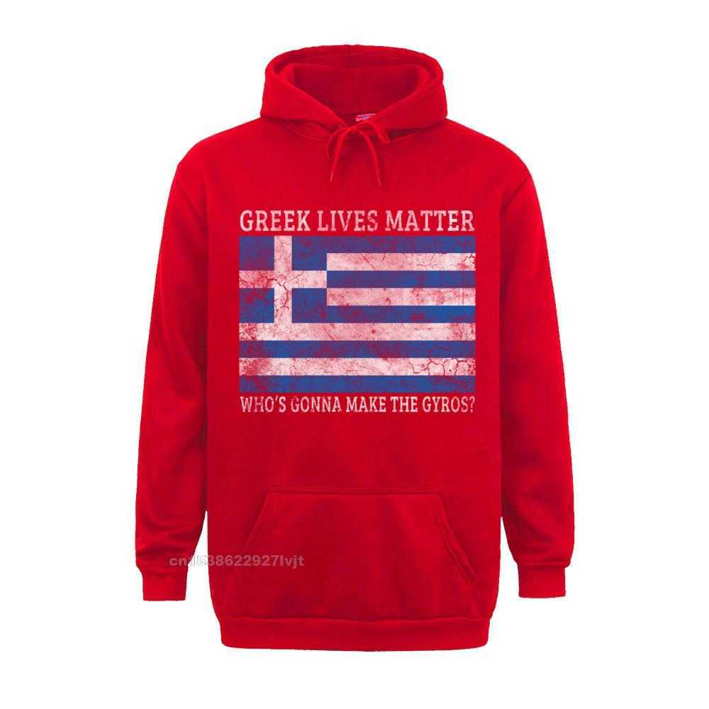 Printed Design Top T-shirts Funky Labor Day Short Sleeve O Neck Tops Shirt 100% Cotton Men Summer Top T-shirts Greek Lives Matter Whos Gonna Make The Gyros Greece Long Sleeve T-Shirt_355 red