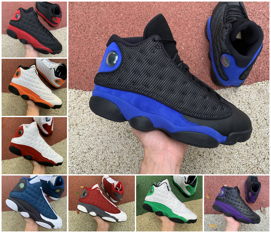 Basketball Shoes Mens 13s Jumpman 13 Court Purple Reverse Bred Obsidian Hyper Royal Starfish Playground Lakers He got game Gym Red Flint Grey Toe Trainers Sneakers