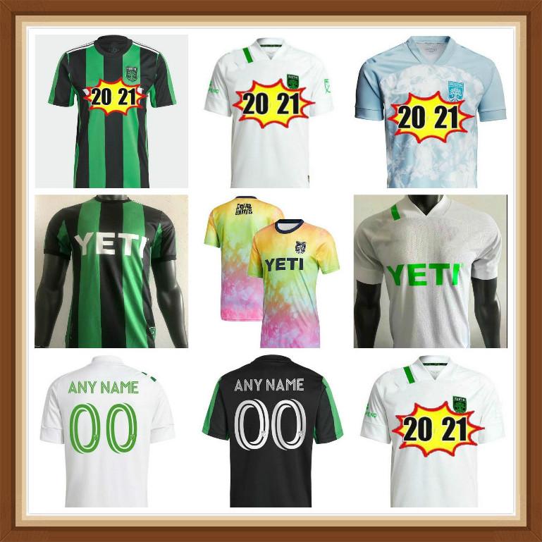 2021 Austin FC soccer jerseys Inaugural MLS 21 22 Player version Home Black Away White DARIO CONCA KLEBER XAVIER BAEZ Customize Football Shirts