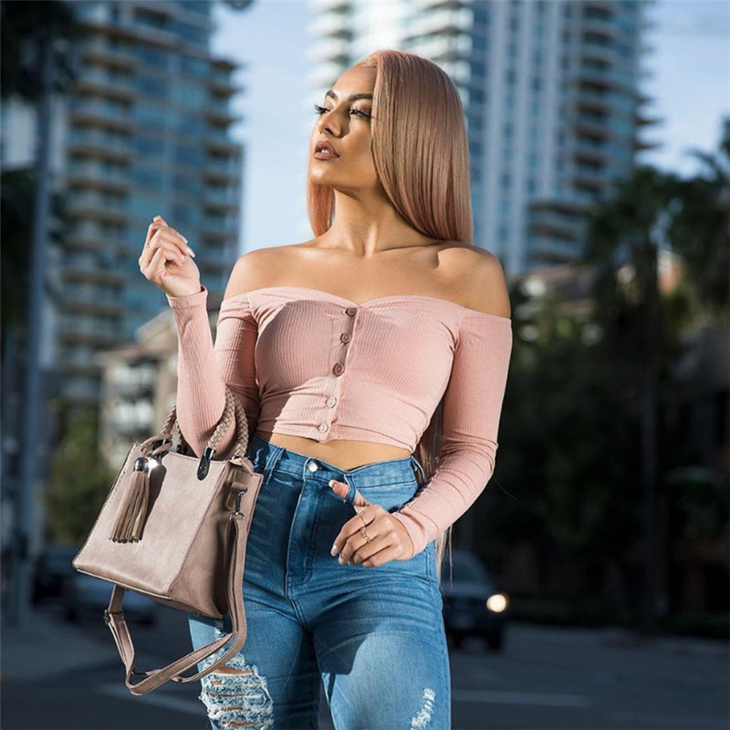 Off Shoulder Tops Knitted Pullover Female Autumn Black Long Sleeve Knit Crochet Sweaters Women Cropped Jumper Cropped Top 2019 (3)