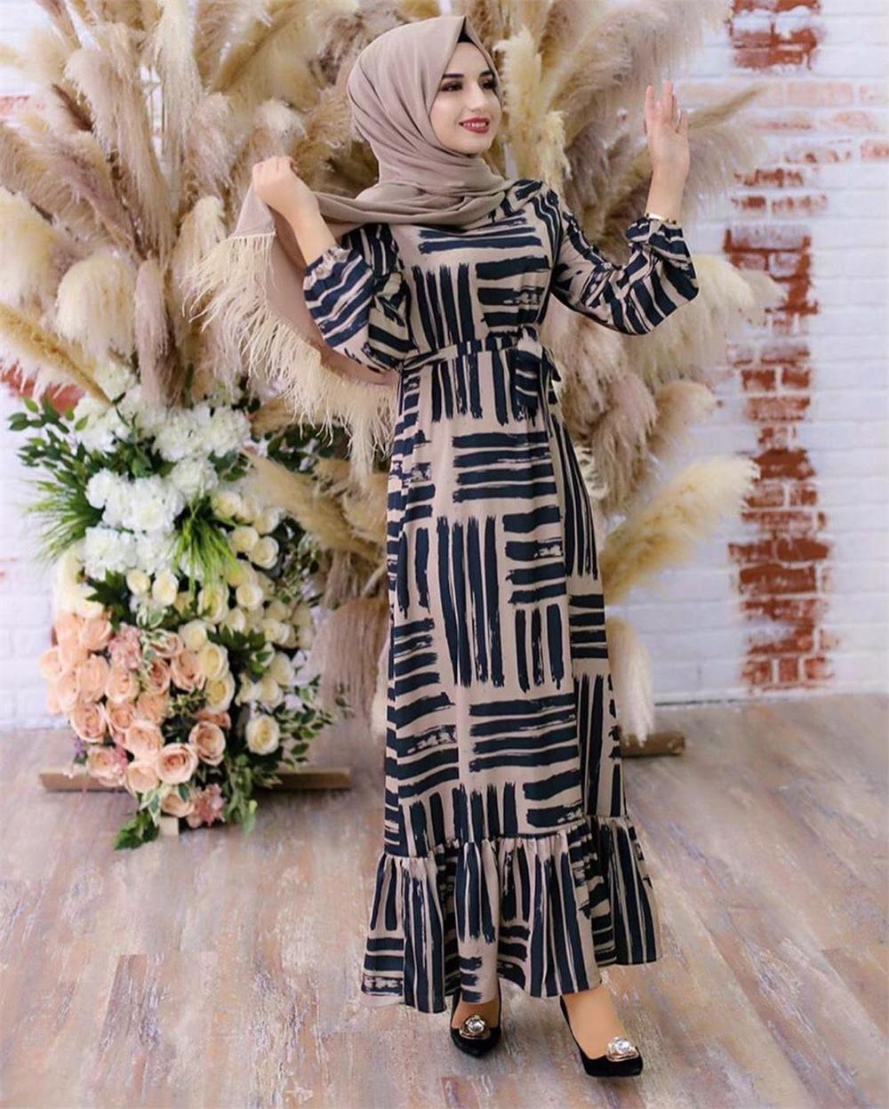 Eid Mubarek Muslim Fashion Dubai Abaya Turkey Hijab Summer Dress Kaftan Caftan Islam Clothing For Women Robe Femme Ete Vestidos (10)