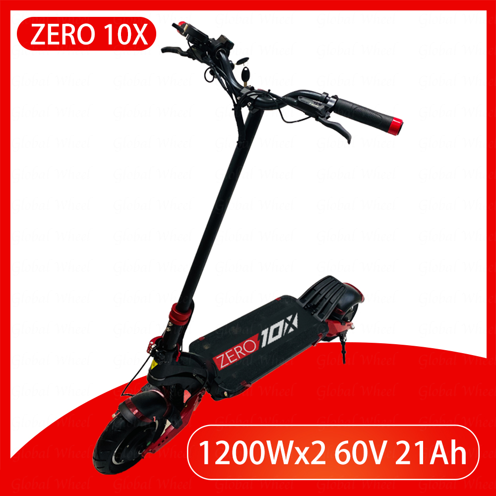 ZERO 10X scooter 10inch dual motor electric scooter 52V 2000W off-road e-scooter 65km/h double drive high speed scooter off road