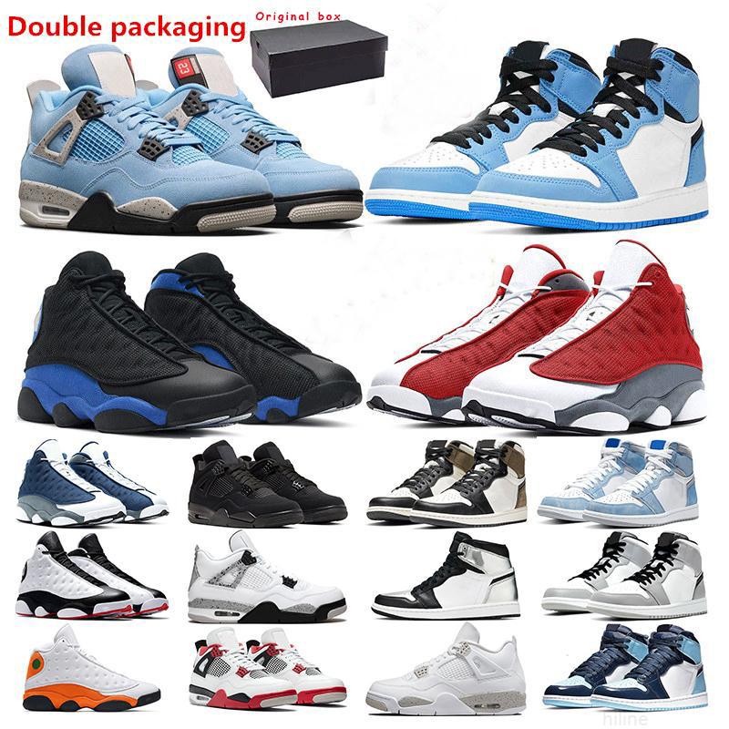 men basketball shoes jumpman 13s red Flint Hyper Royal 1s University Blue 4s White oreo cement Black Cat women sport sneaker trainer outddor