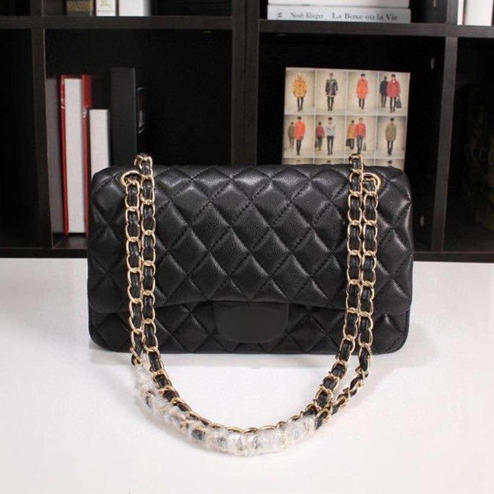 Classic Fashion Designer Women Handbags Purse High Quality Chain Cross Body Bags Small Shoulder Bag Genuine Leather Messenger Black Tote Bag