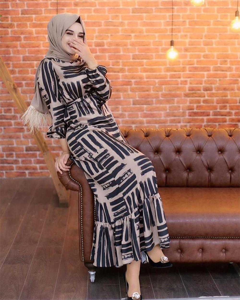 Eid Mubarek Muslim Fashion Dubai Abaya Turkey Hijab Summer Dress Kaftan Caftan Islam Clothing For Women Robe Femme Ete Vestidos (7)