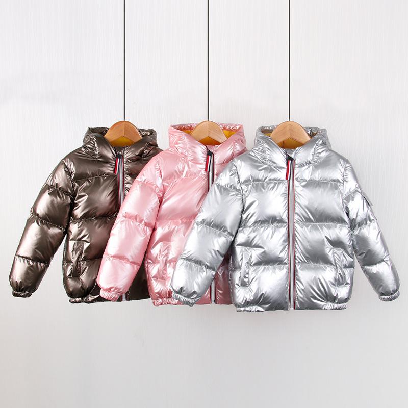 Arrivals Children Hooded Down Coat Jacket Autumn Winter Boys Girls Cotton-padded Parka & Coats Thicken Warm Jackets Kids Outwear 316 Z2