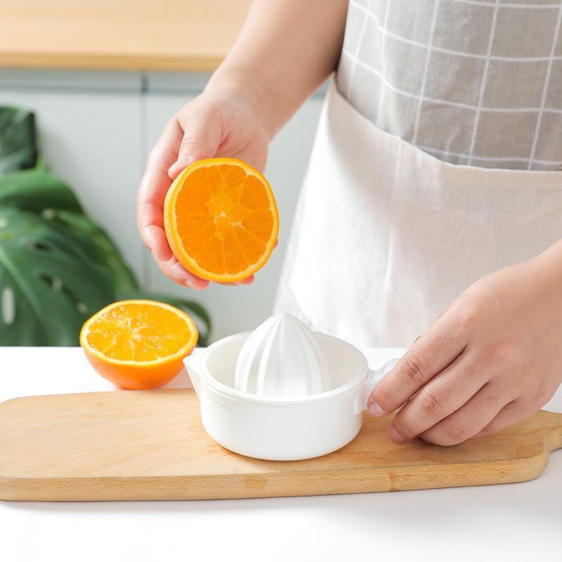 White Manual Juicer Orange Lemon Mini Fruit Vegetable Squeezer Kitchen Accessories Double Deck Juicers High Quality 2 4hr F2