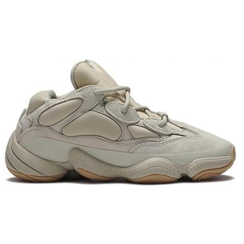 2020 New Desert rat 500 soft vision stone bone white utility black salt kanye west running shoes men women sneakers US 5-11.5