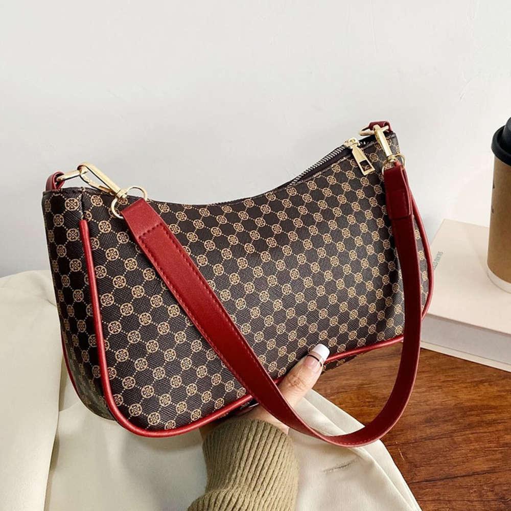 Women Shoulder Purse Vintage Pattern Armpit Bag 2021 Brand Handbag and Pu Leather Small Hobos Free Ship