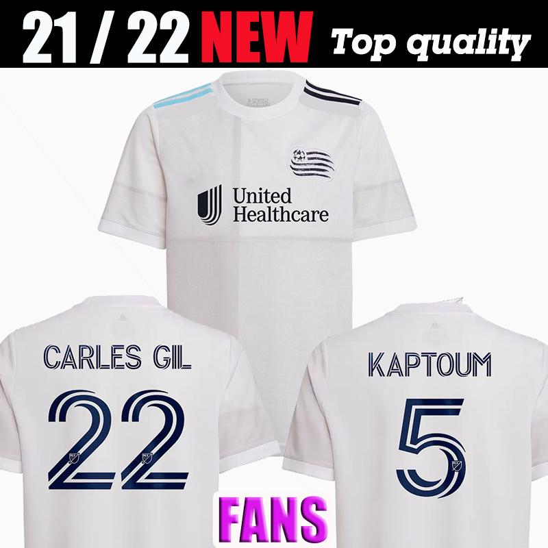 2021 Revolution Men MLS SC Soccer Jerseys BOU 7# CARLES GIL 22# KAPTOUM 5# BUKSA 9# Away Football Shirt Short Sleeve Uniform