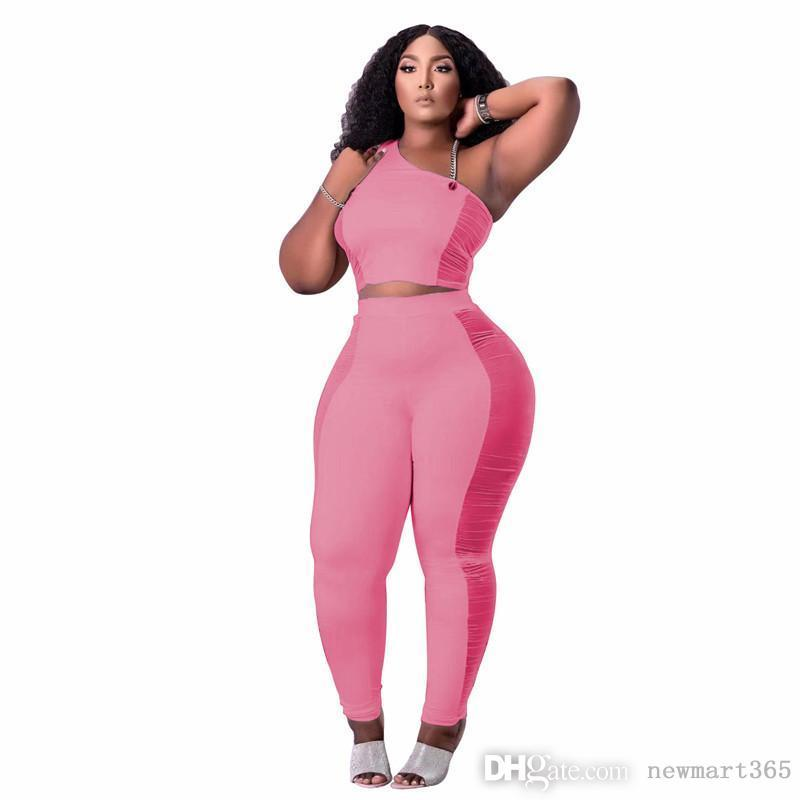 Summer Clothes Women Outfits Solid Tracksuits Sleeveless Vest Shirt+Pants sheer mesh Two Piece Set Casual Black Sportswear plus size 2XL sweatsuits 5602
