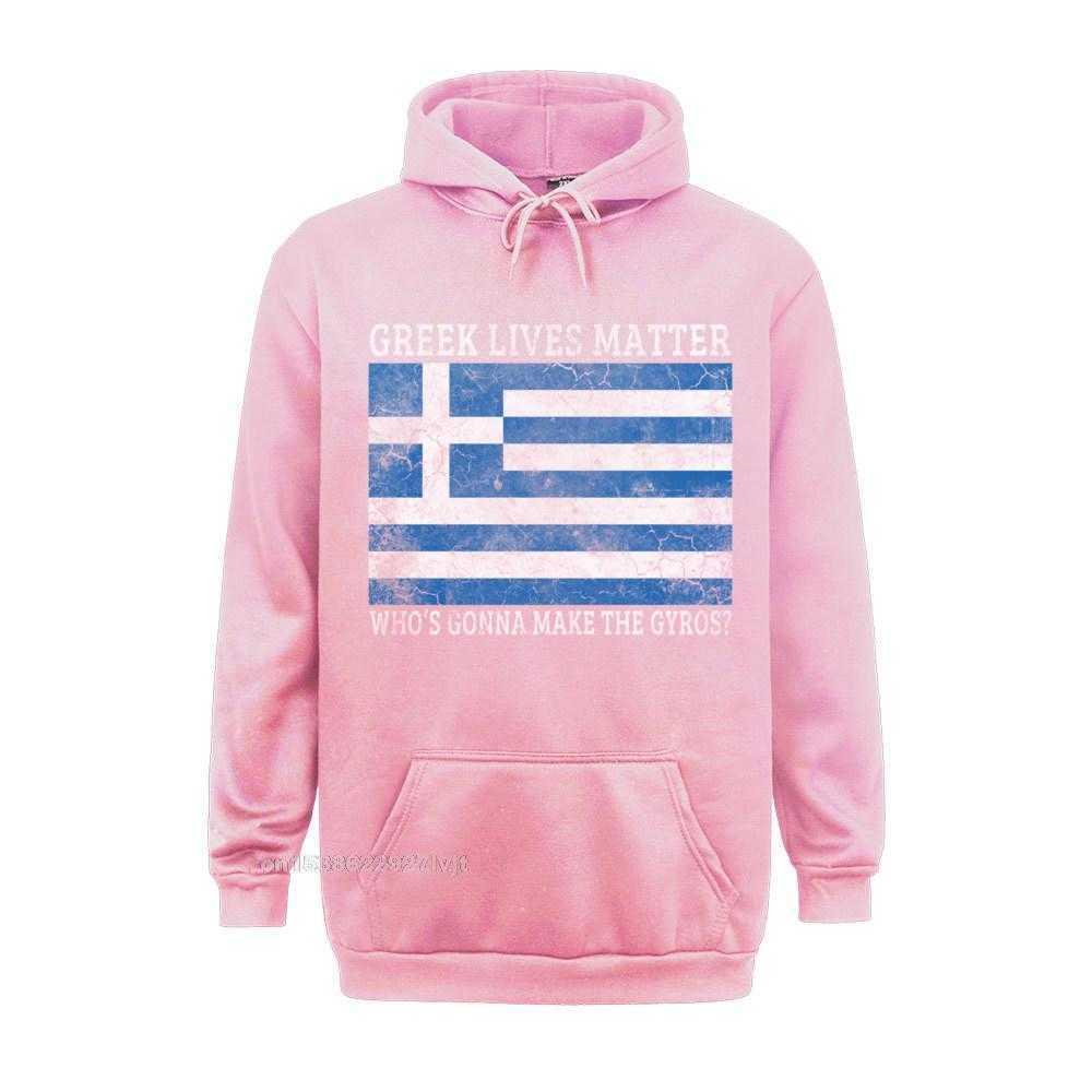 Printed Design Top T-shirts Funky Labor Day Short Sleeve O Neck Tops Shirt 100% Cotton Men Summer Top T-shirts Greek Lives Matter Whos Gonna Make The Gyros Greece Long Sleeve T-Shirt_355 pink