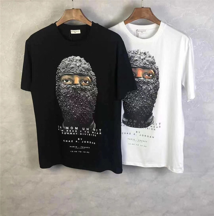 Men's T-Shirts Ih Nom Uh Nit Relaxed T-shirt Men Women Summer Style Pearl Mask Printing Tops Tee 2G8S