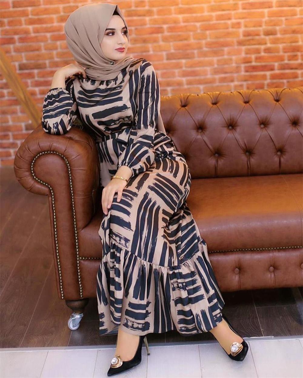 Eid Mubarek Muslim Fashion Dubai Abaya Turkey Hijab Summer Dress Kaftan Caftan Islam Clothing For Women Robe Femme Ete Vestidos (6)