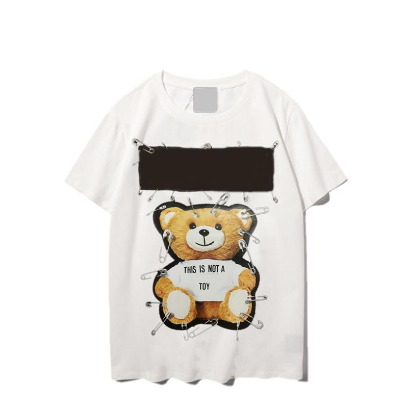 Designers T Shirts Women Mens Shirts early Spring Man T-shirt Casual Fashion Women Top Tees Short Sleeve Bear Printed Mens Clothing bear printed 558