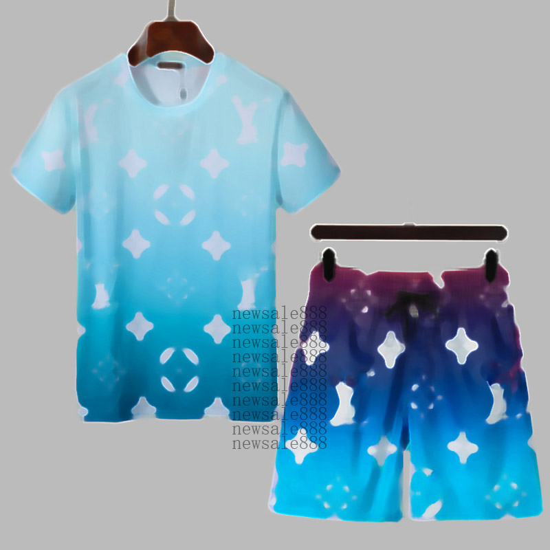 Mens Fashion Summer Suits Casual Tracksuits Classic Letter Pattern Print Men's Short Sleeve & Shorts Men Tops Boys Tees many styles Clothing M-3XL