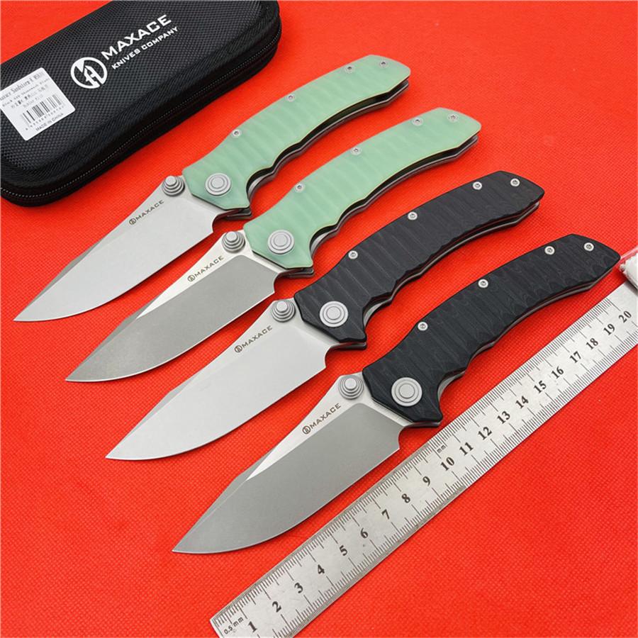 MAXACE SANDSTORM-K folding knife K110 blade 420 steel G10 handle utility Outdoor camping hunting pocket kitchen fruit EDC tools