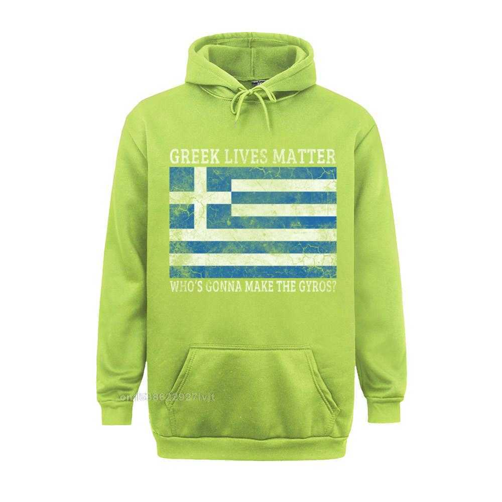 Printed Design Top T-shirts Funky Labor Day Short Sleeve O Neck Tops Shirt 100% Cotton Men Summer Top T-shirts Greek Lives Matter Whos Gonna Make The Gyros Greece Long Sleeve T-Shirt_355 lightgreen