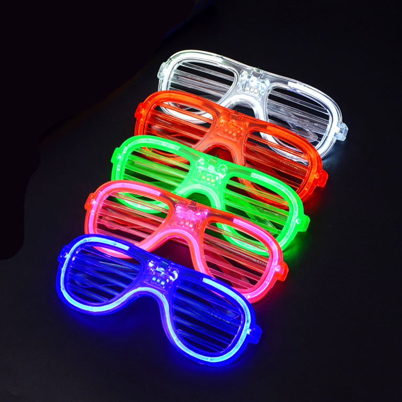 LED Lighted Shutter Glasses Party Concert Props Rave Toys Flashing Glasses Halloween Supplies Luminous Glasses TOP-98777