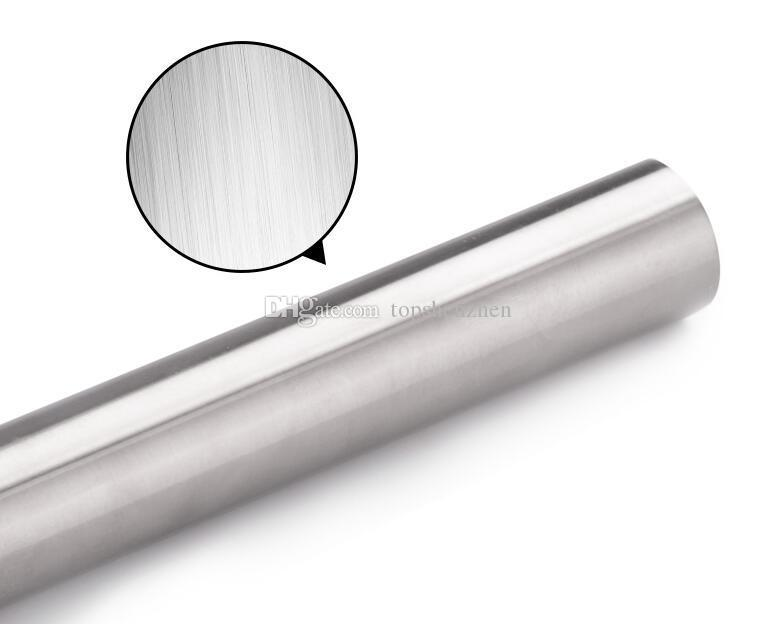 40x3.5cm Professional Rolling Pin for Baking Smooth Stainless Steel Metal & Tapered Design Best for Fondant Pie Crust Cookie & Pastry