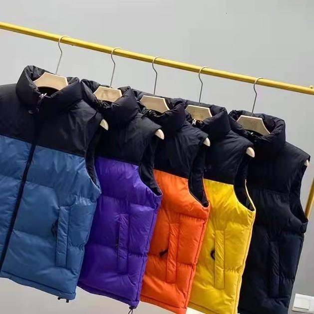 2021 New Fashion mens Winter vest womens Down jacket Couples Parka Outdoor Warm Feather Outfit Outwear Multicolor Vests Size M-3XL JK137542_xj
