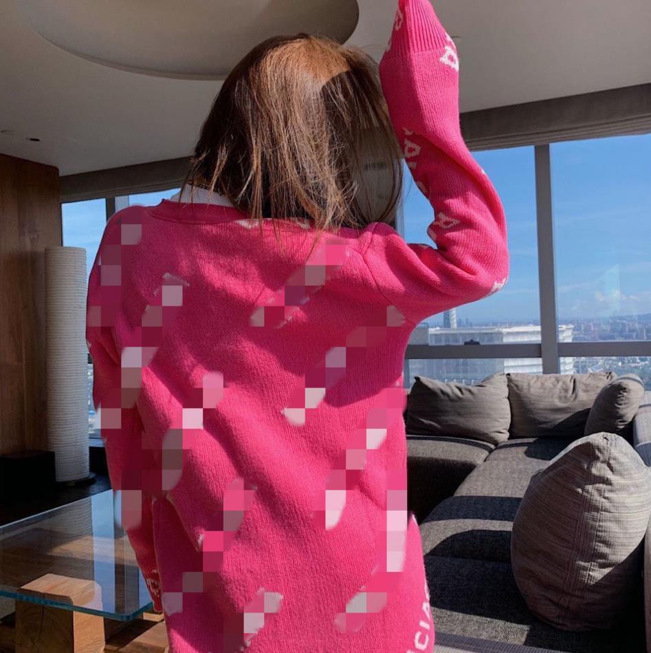 Original Label Designer 2021 Women's Cardigan Coat Sweater Fashion Women's High Quality Cashmere Sweater Alphabetic Print Sweater