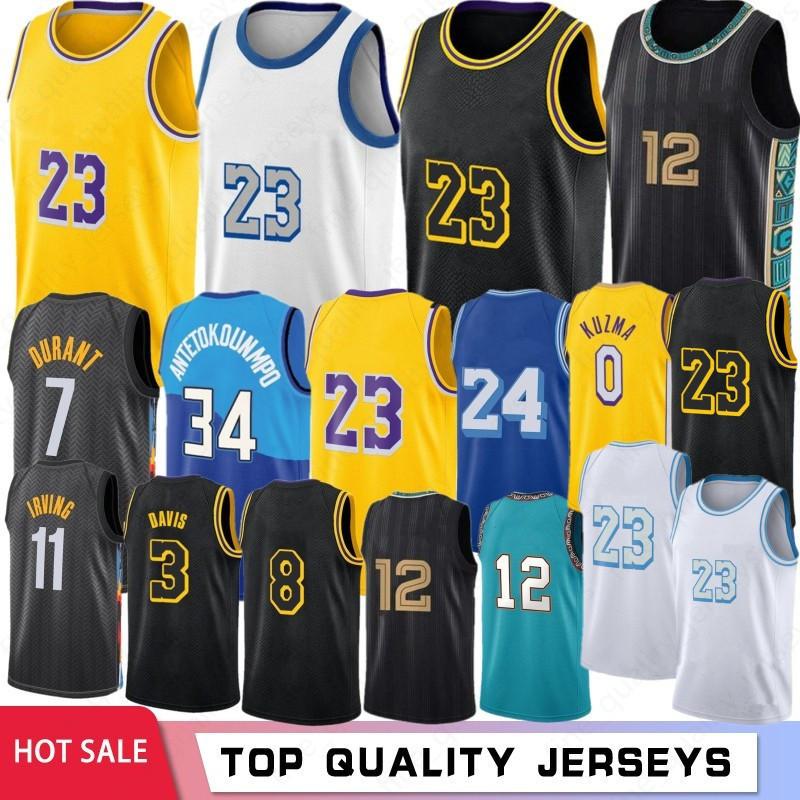 Ja 12 Morant Los 23 Angeles Basketball Jerseys Anthony 3 Davis Kyle 0 Kuzma 34 8 32 2021 Stock Retro Mesh 7 Kevin Kyrie 11 Durant Hot Irving