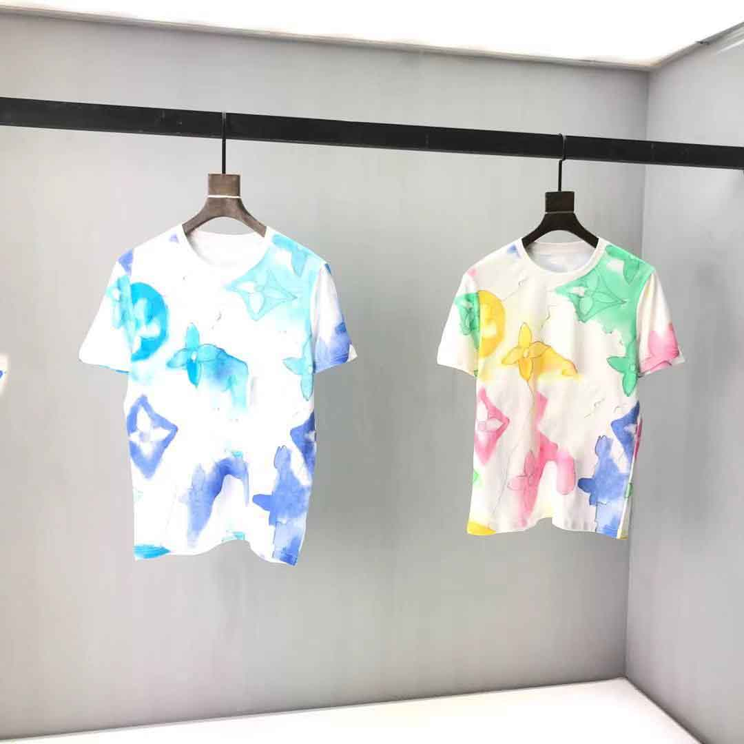 2021ss spring and summer new high grade cotton printing short sleeve round neck panel T-Shirt Size: m-l-xl-xxl-xxxl Color: black white d31