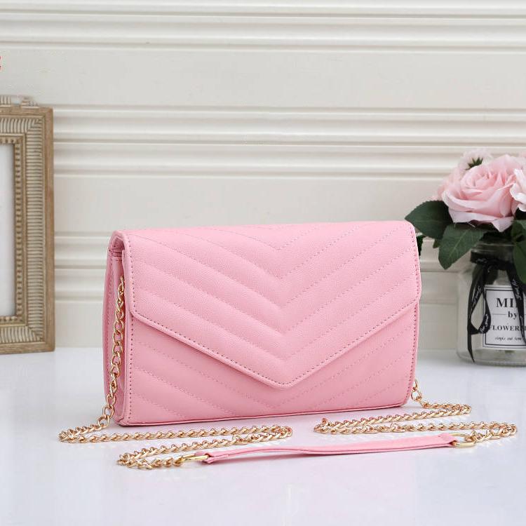 2021 high qulity womens metal gold chain bag handbags ladies composite tote PU leather clutch shoulder bags female purse